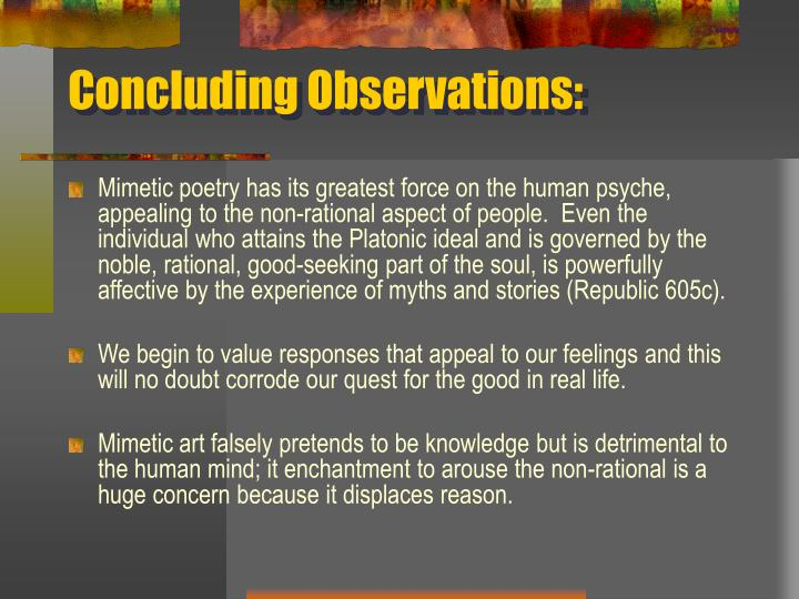 Concluding Observations: