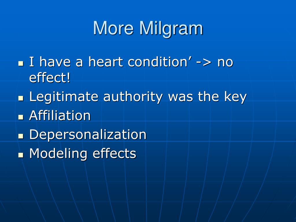 More Milgram