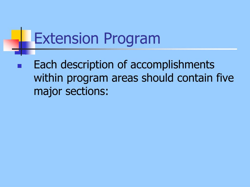 Extension Program