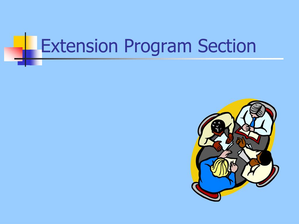 Extension Program Section
