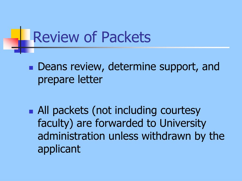 Review of Packets
