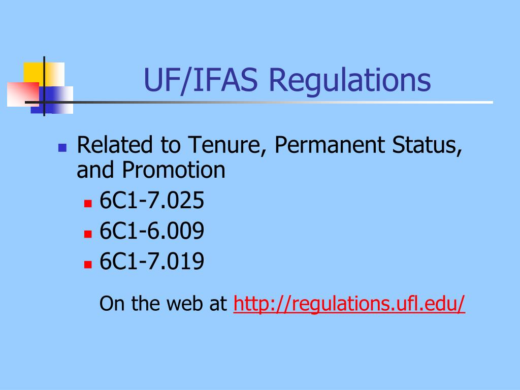 UF/IFAS Regulations