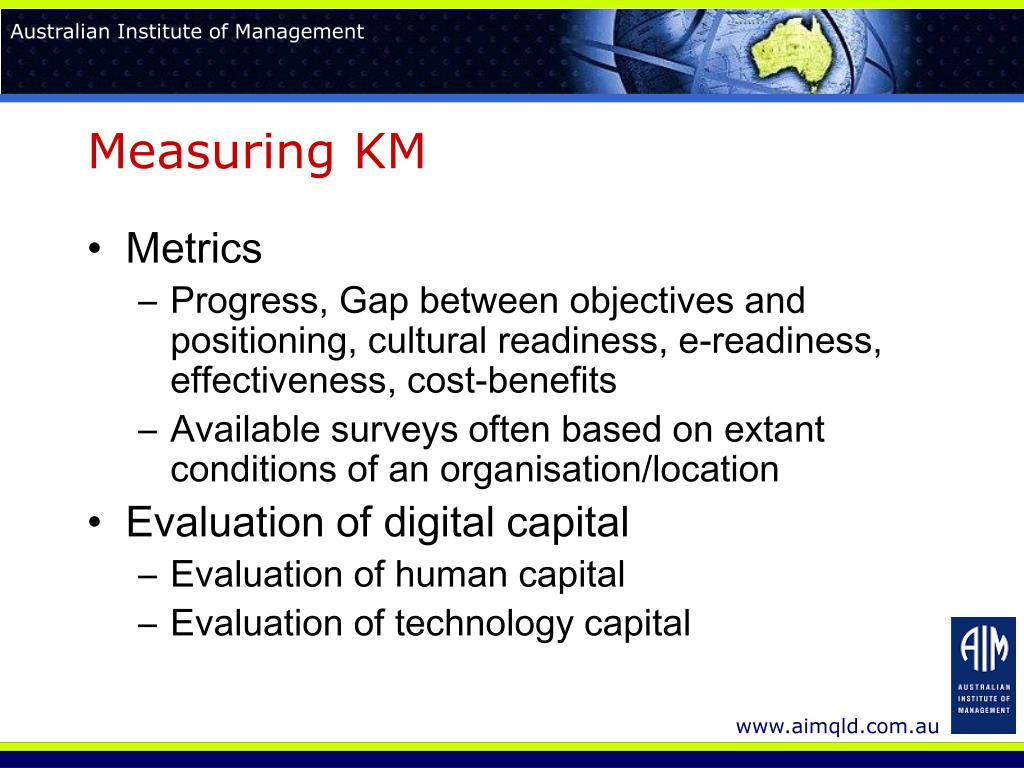 Measuring KM