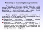 prewencja w ochronie przeciwpo arowej