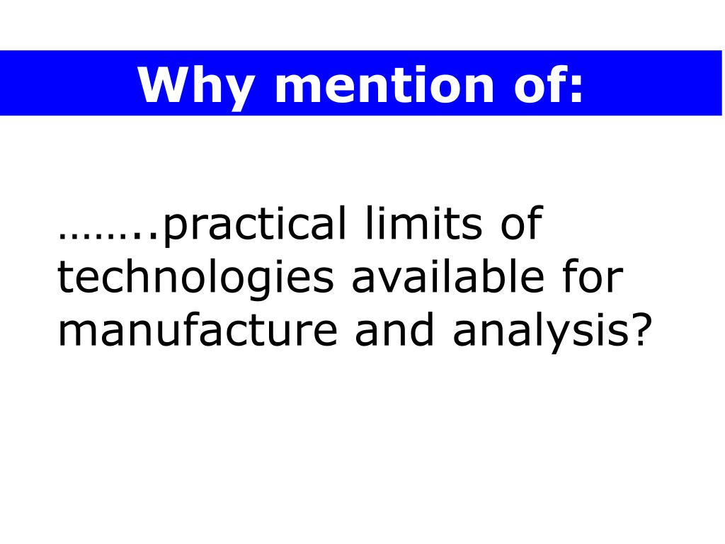 Why mention of: