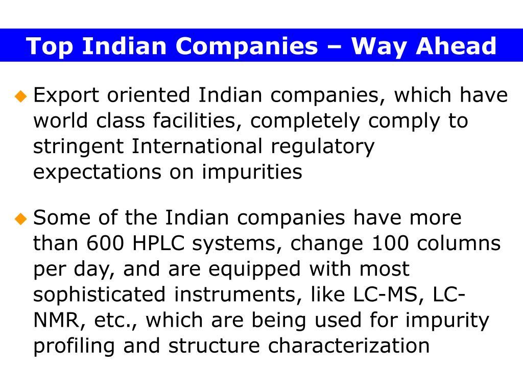 Top Indian Companies – Way Ahead