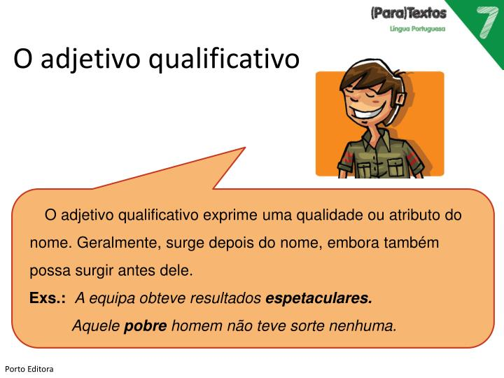 O adjetivo qualificativo