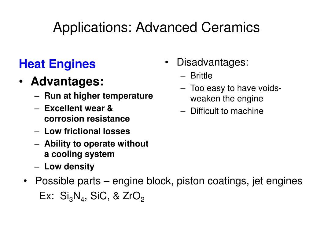 Applications: Advanced Ceramics