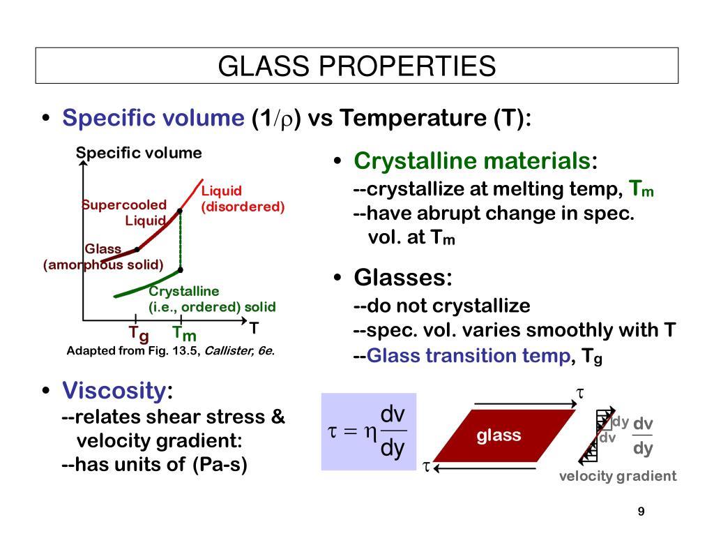 GLASS PROPERTIES