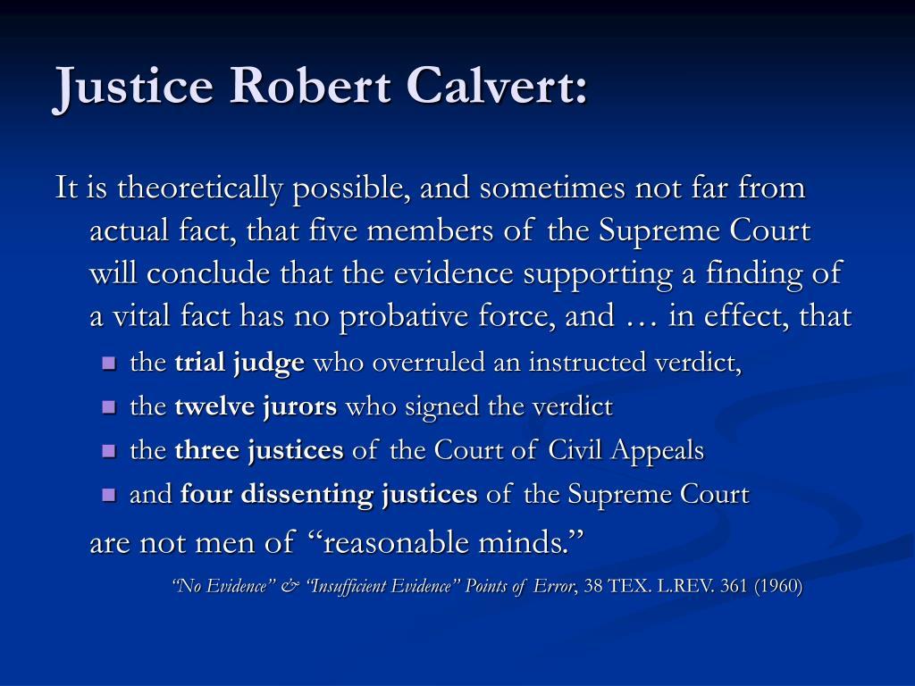 Justice Robert Calvert: