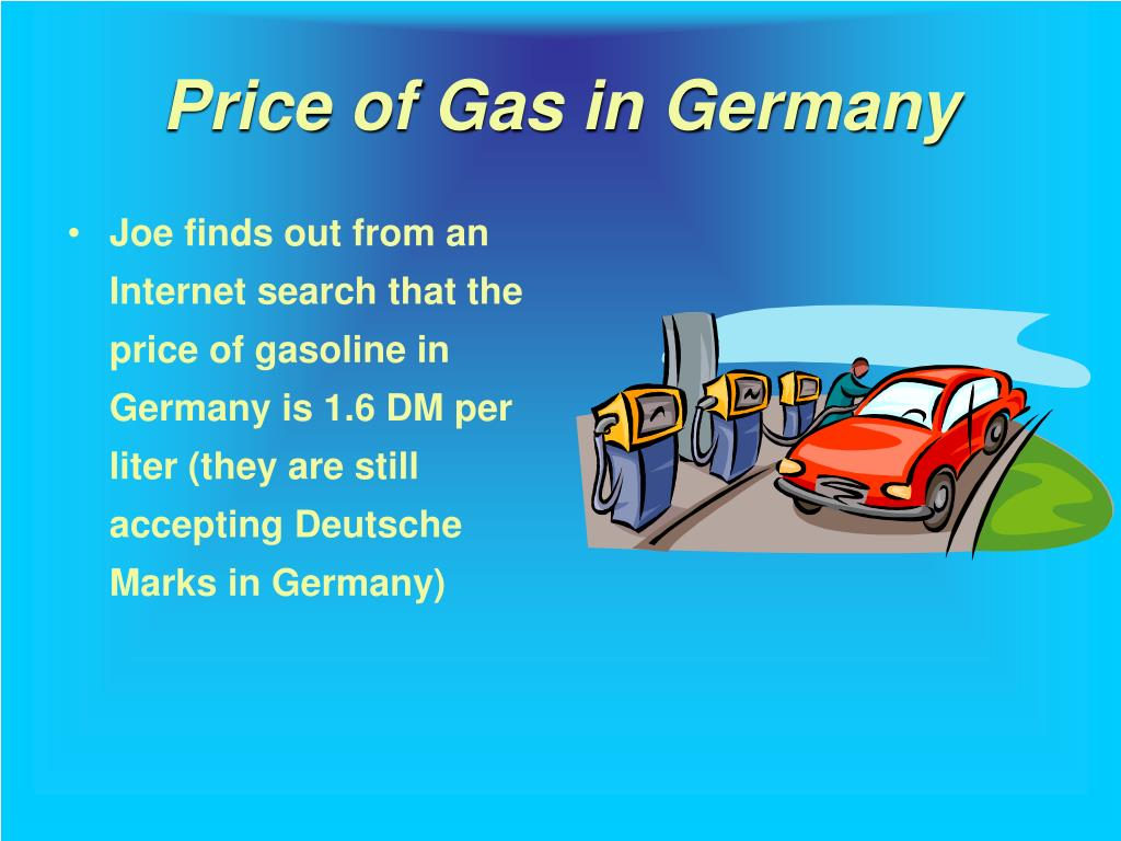 Price of Gas in Germany