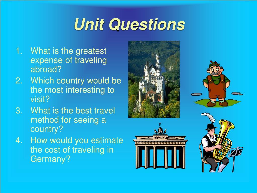 Unit Questions