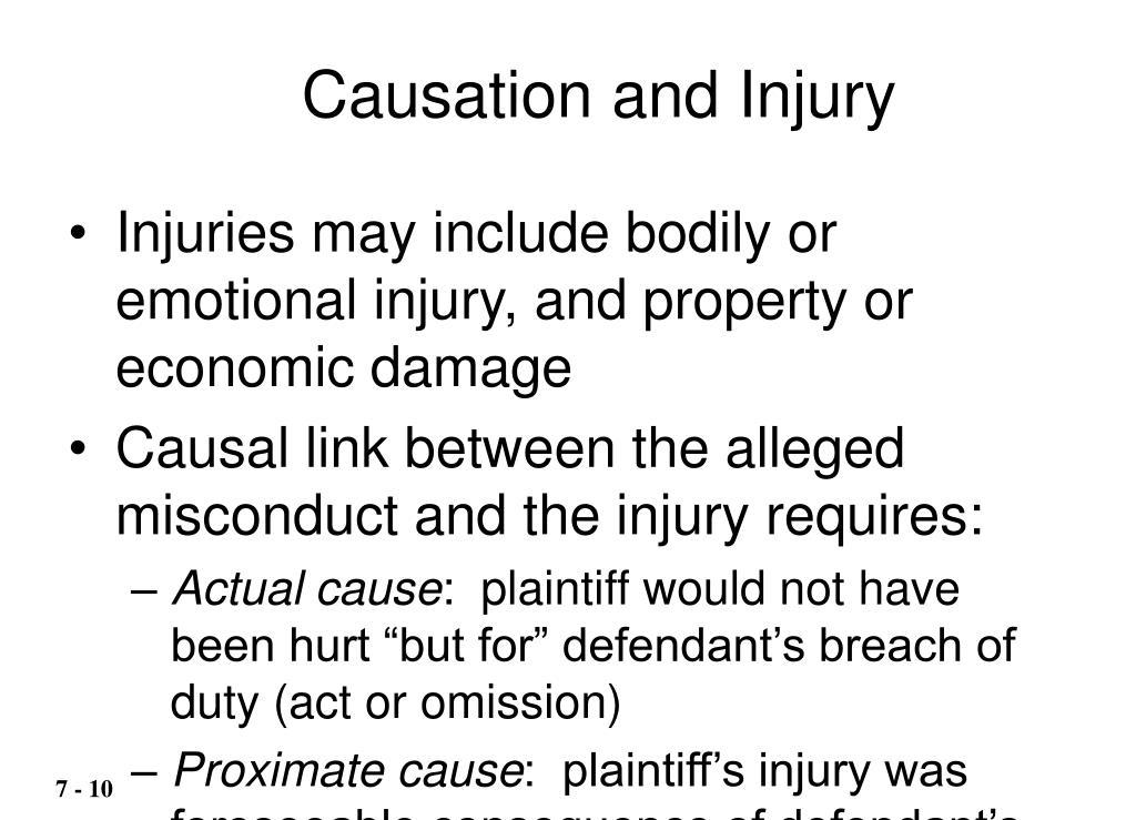 Causation and Injury