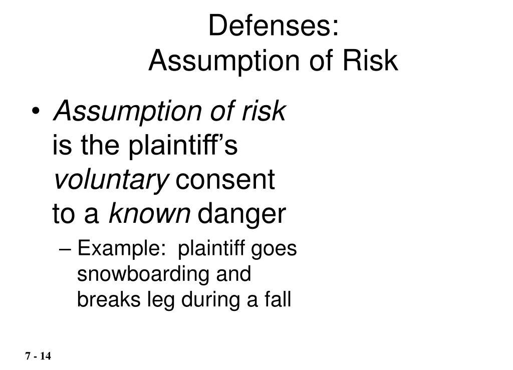 Defenses: