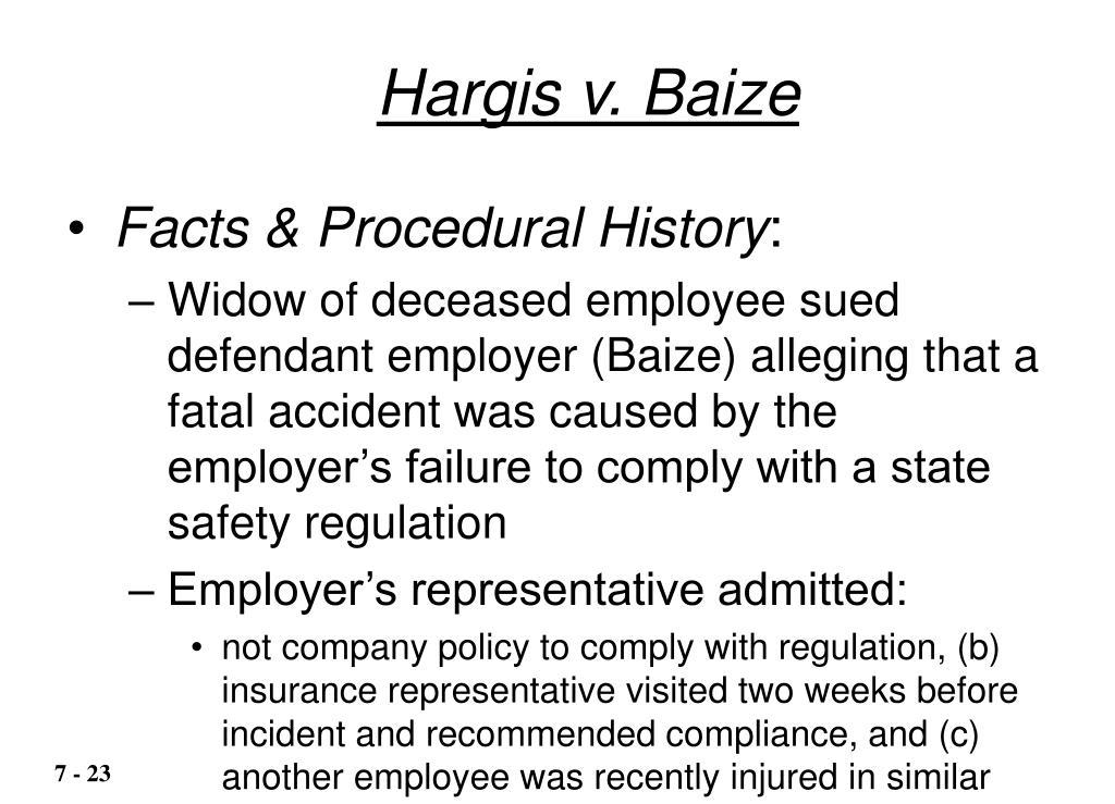 Hargis v. Baize