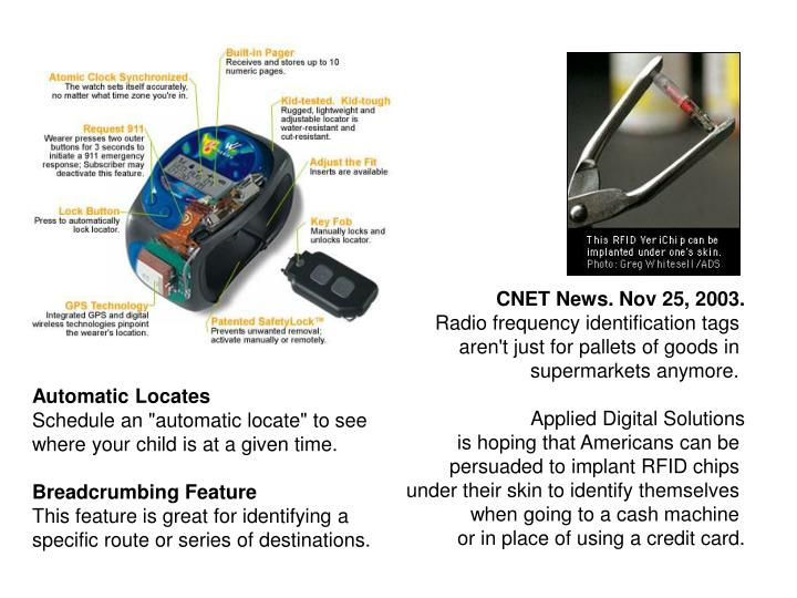 CNET News. Nov 25, 2003.