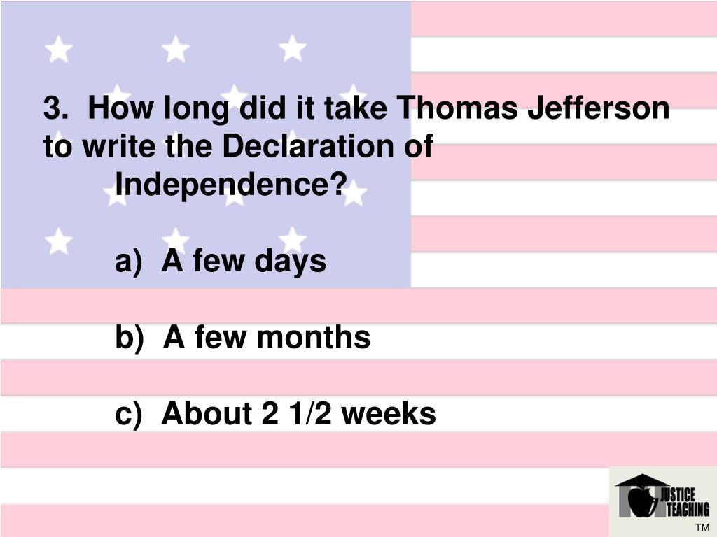 how to write the declaration of independence