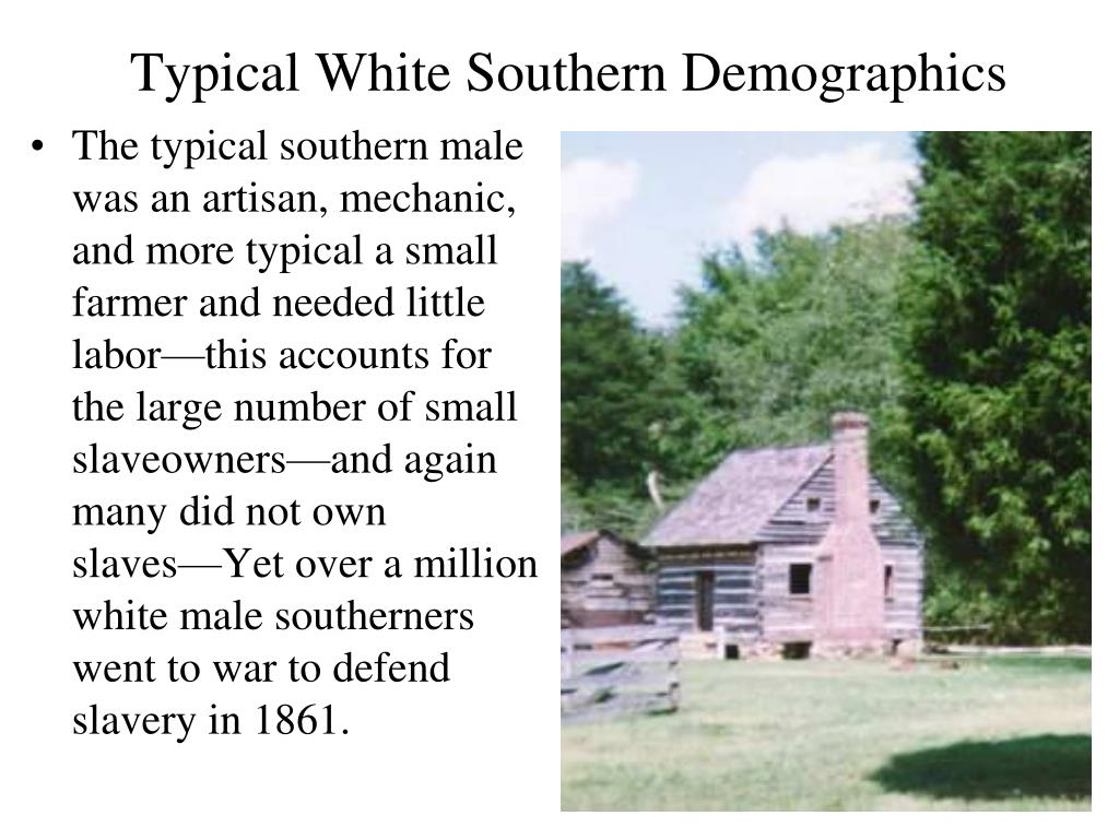 Typical White Southern Demographics