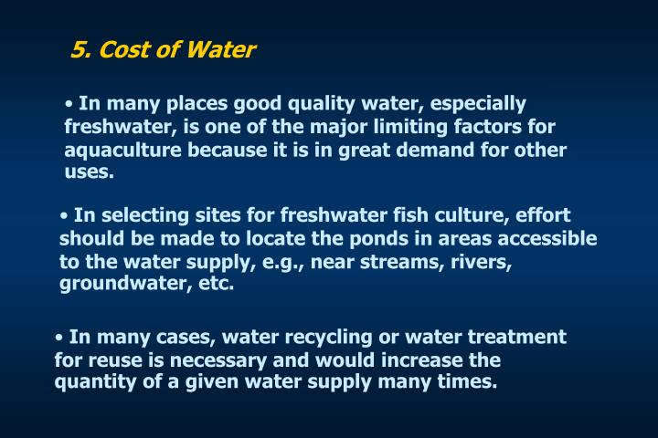 5. Cost of Water