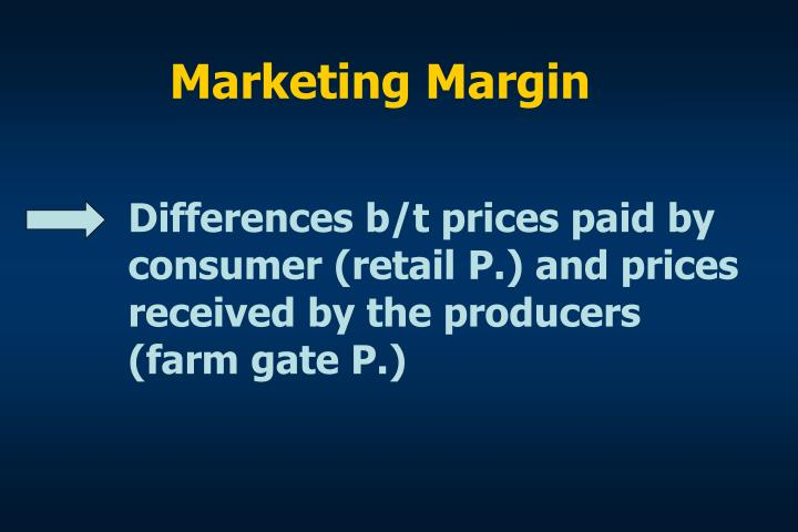 Marketing Margin