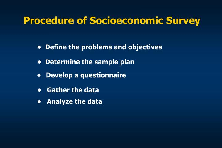 Procedure of Socioeconomic Survey
