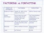 factoring vs forfaiting