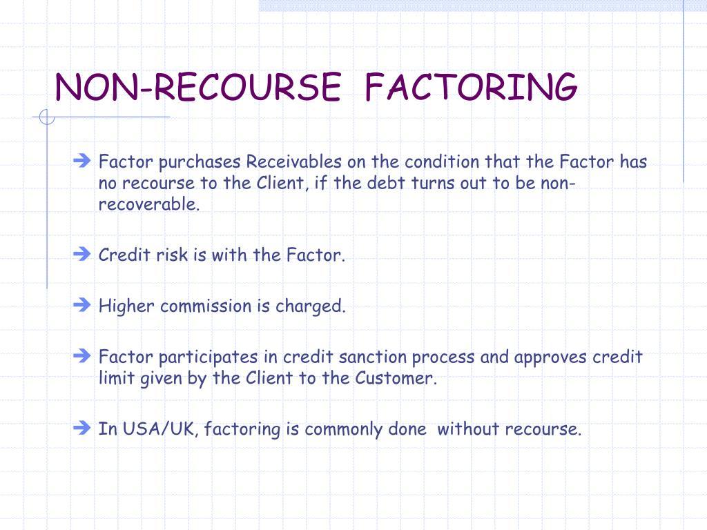 NON-RECOURSE  FACTORING