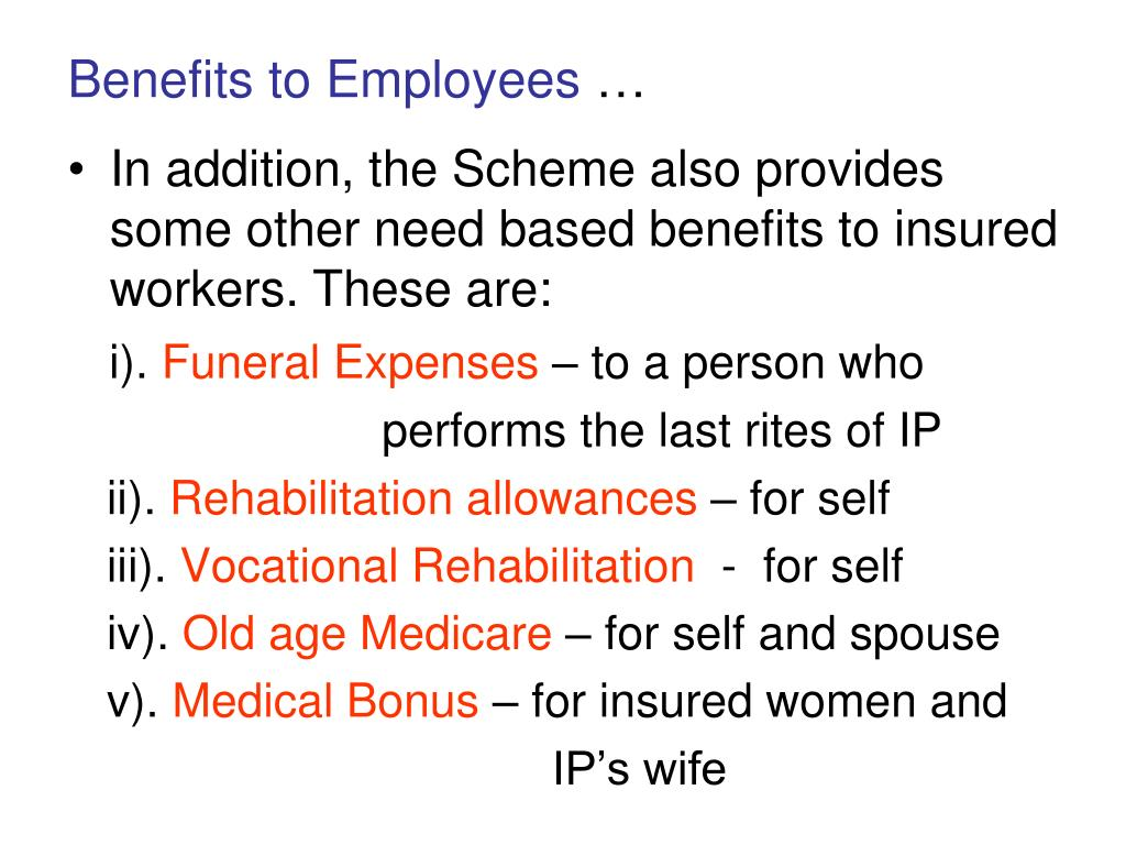 Benefits to Employees