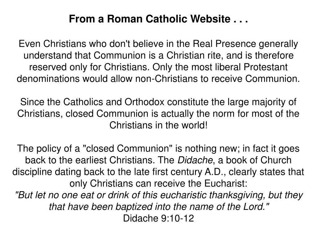 From a Roman Catholic Website . . .