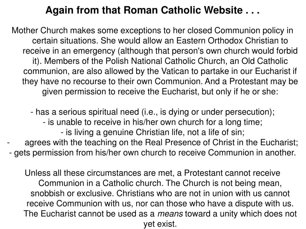 Again from that Roman Catholic Website . . .