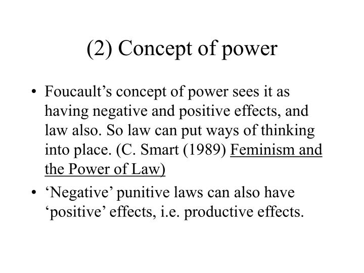 (2) Concept of power