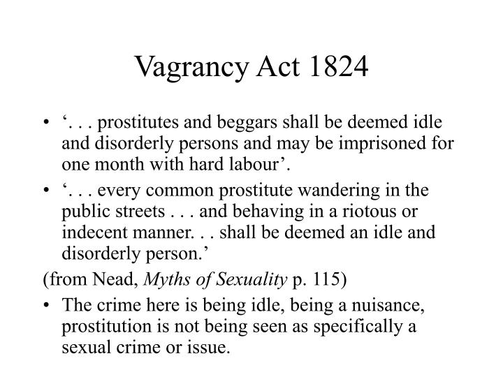 Vagrancy Act 1824