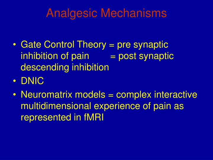 Analgesic