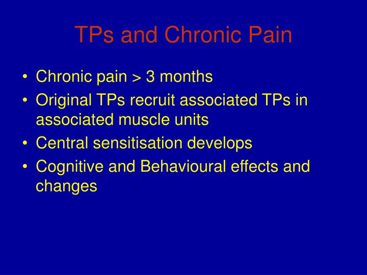 TPs and Chronic Pain