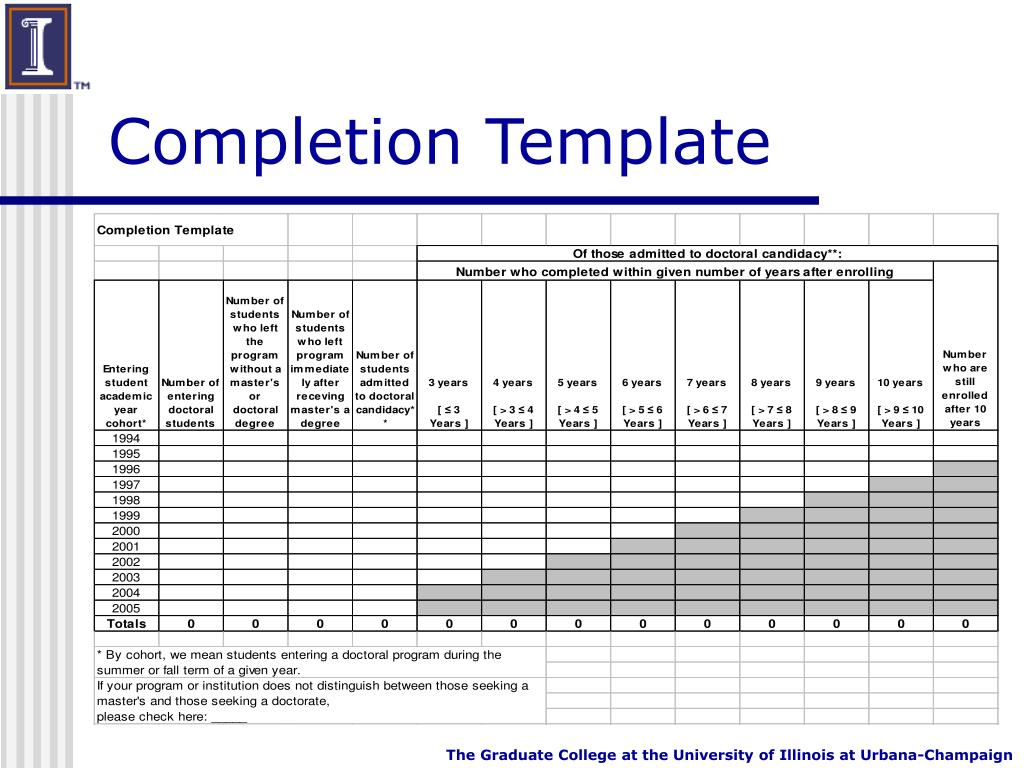 Completion Template