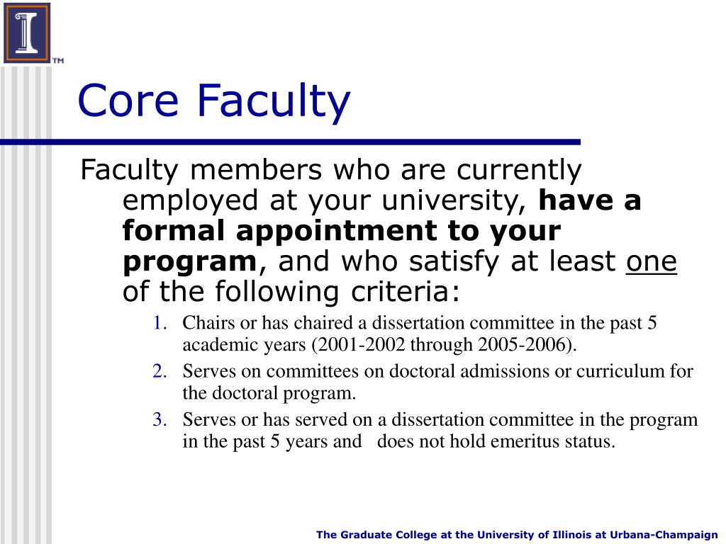 Core Faculty