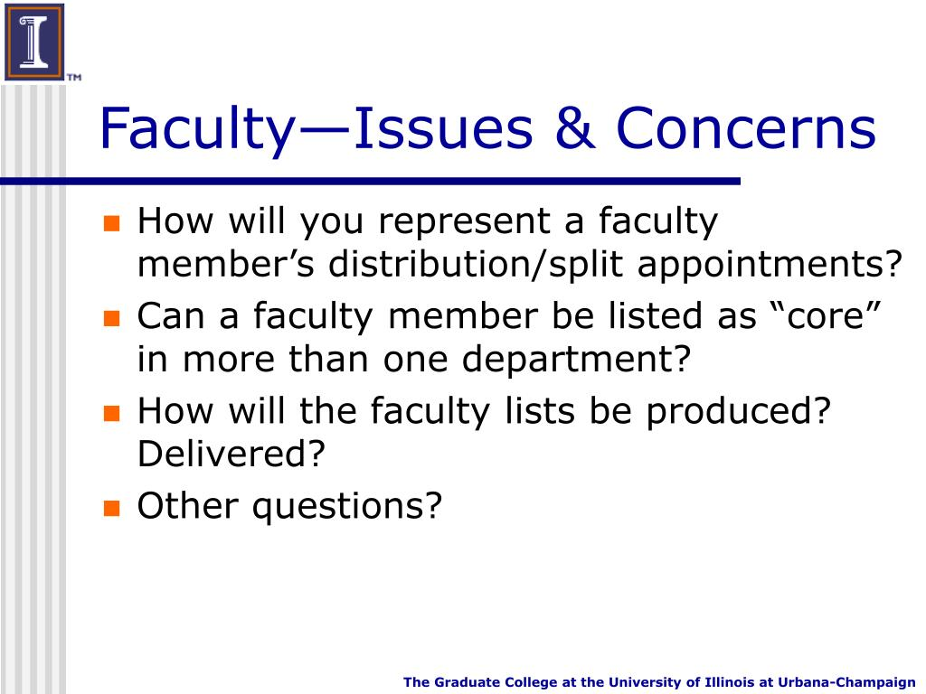 Faculty—Issues & Concerns