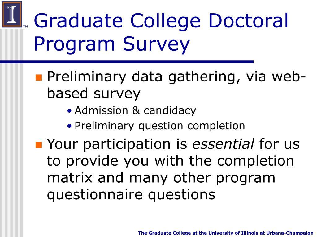 Graduate College Doctoral Program Survey