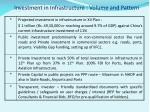 investment in infrastructure volume and pattern