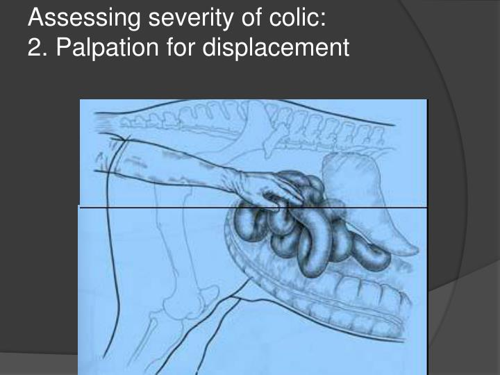 Assessing severity of colic: