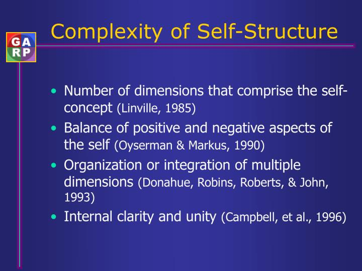 Complexity of Self-Structure