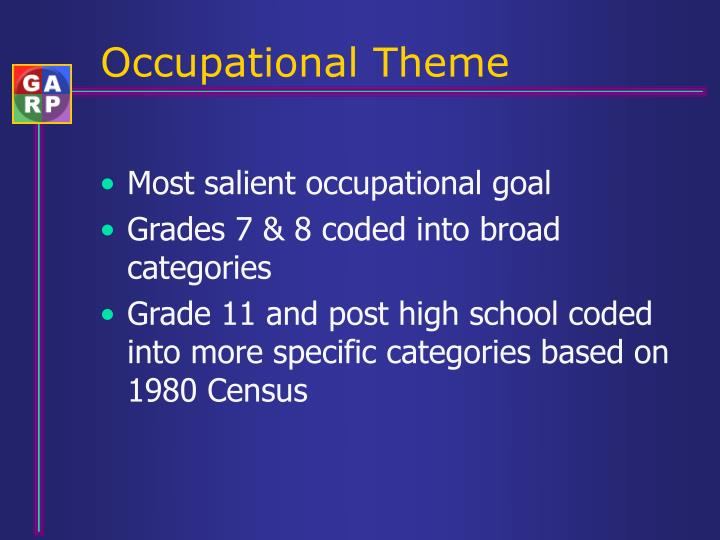 Occupational Theme