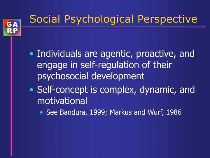 Social Psychological Perspective