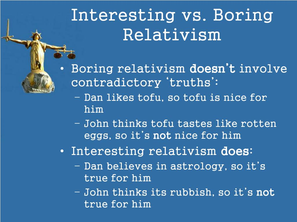 moral relativism vs absolutism a man Moral relativism is a popular idea floating around the world today, and the way i understand it, moral relativism is the idea that moral values are based on what society or an individual deems is right, this may seem to some a liberating concept, self choice and all that, but according to this theory, if society show more moral relativism is.