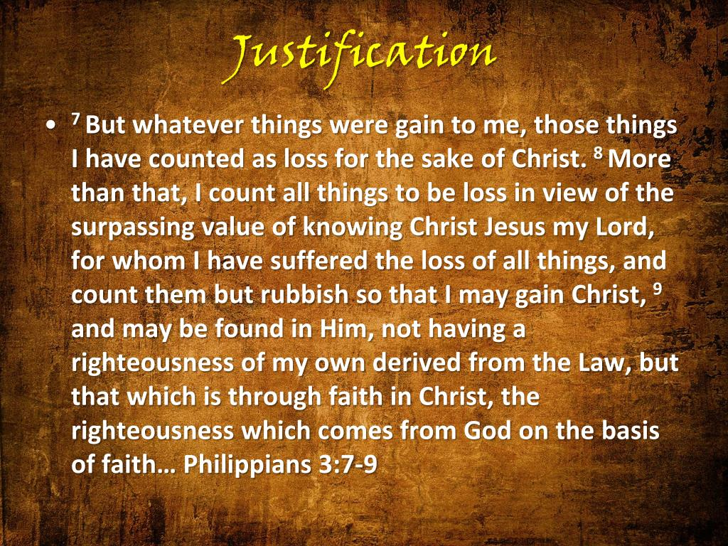 Justification