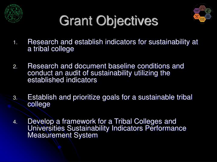 Grant objectives