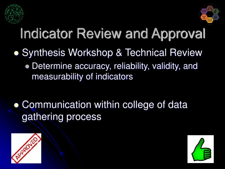 Indicator Review and Approval