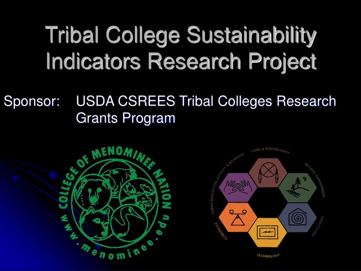 Tribal college sustainability indicators research project