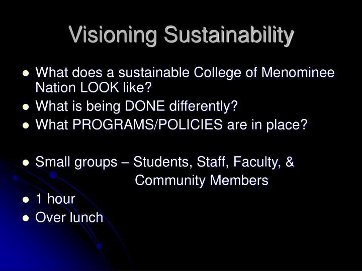 Visioning Sustainability