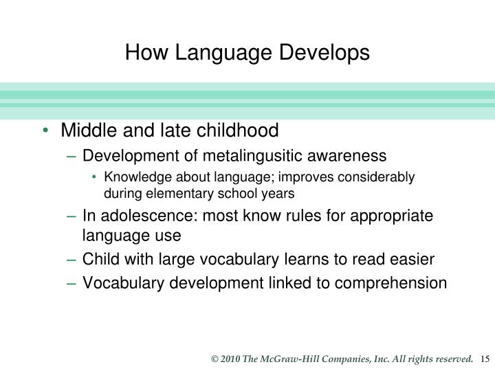 How Language Develops